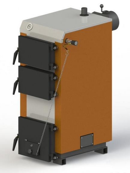 Твердотопливный котел KOTLANT КГ 16 с механическим регулятором тяги