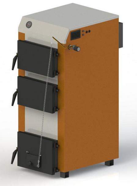 Твердотопливный котел KOTLANT КГ 25 с механическим регулятором тяги