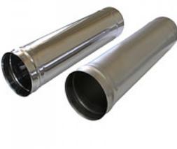 Труба дымоходная одностенная (0,6мм*1м)
