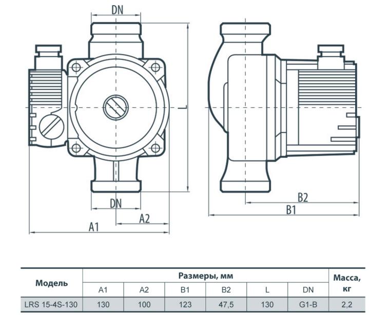 Насос SPRUT LRS 15-4S-130 без гаек