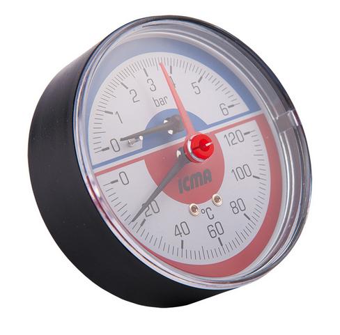 "- Термоманометр фронтальный ICMA с клапаном 1/2"" (259)"