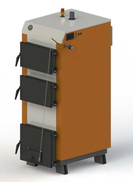 Твердотопливный котел KOTLANT КГ 30 с механическим регулятором тяги