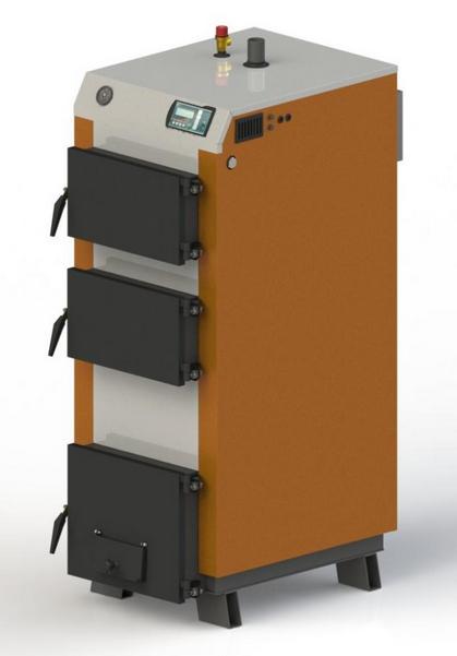 Твердотопливный котел KOTLANT КГ 40 с автоматикой и вентилятором