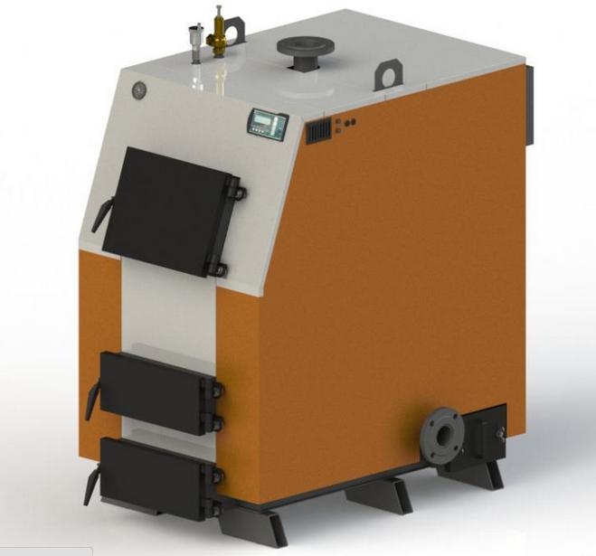 Твердотопливный котел KOTLANT КВ 65 с электронной автоматикой и вентилятором