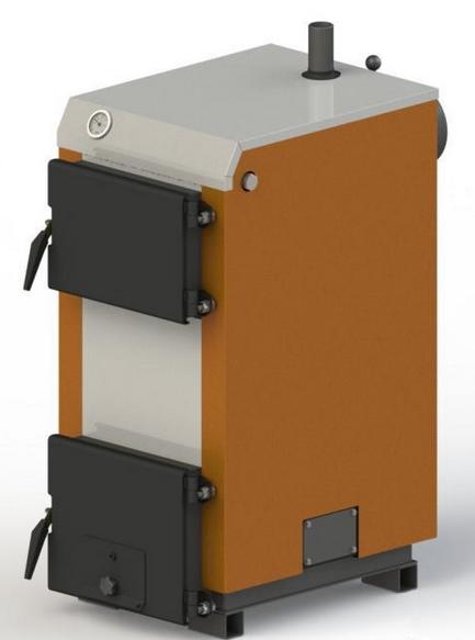Твердотопливный котел KOTLANT КГ 10 с механическим регулятором тяги