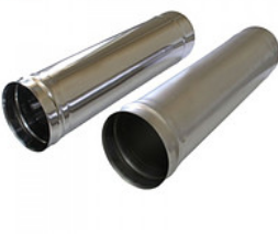 Труба дымоходная одностенная (0,6мм*0,5м)