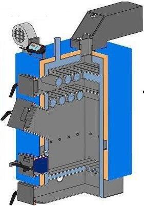 Твердотопливный котел ИДМАР GK-1 50 кВт