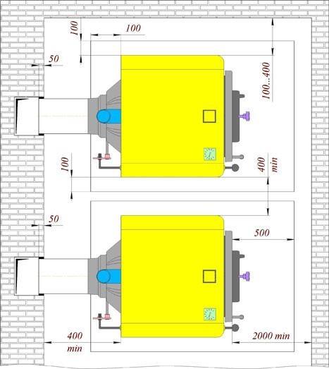 Твердотопливный котел ДАНКО 35 ТЛ (7 секций)