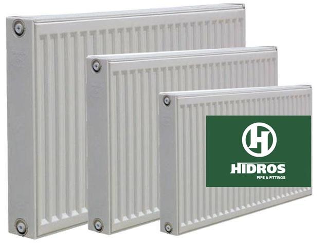 Радиатор HIDROS 22 тип высота 300, нижнее подключение