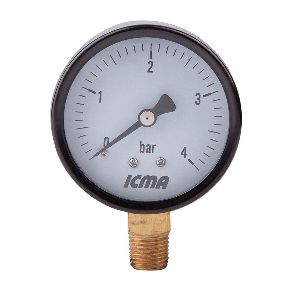 "- Манометр  1/4"" нижнее подкл. 6 bar Icma 244"