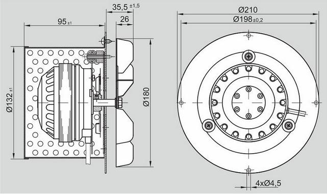 Дымосос MPLUSM R2E 150 AN91-06